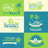 Vector set of summer and travel labels and symbols. Royalty Free Stock Photos