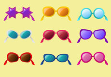 Vector set of sunglasses Stock Images