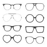Vector set of sunglasses frames Royalty Free Stock Image