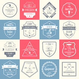 Vector Set Surf Badges, Sign and Logos. Set of vintage surfing graphics, emblems and badges. Surf collection retro sign and logos. Surf elements and labels Royalty Free Stock Photos