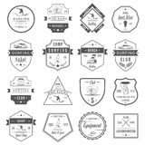 Vector Set Surf Badges, Sign and Logos. Set of vintage surfing graphics, emblems and badges. Surf collection retro sign and logos. Surf elements and labels Royalty Free Stock Image