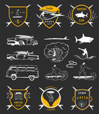Vector Set Surf Badges, Sign and Logos Royalty Free Stock Photo