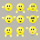 Vector set of surround smileys with different emotions Stock Photography