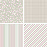 Vector set of sweet patterns, textures Royalty Free Stock Photos