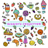 Vector Set of sweets. Royalty Free Stock Images