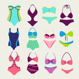 Vector set of swim wears - Illustration Royalty Free Stock Photo