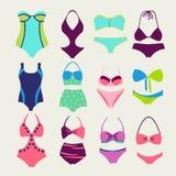 Vector set of swim wears - Illustration Royalty Free Stock Photo