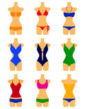 Vector set of swimwears Royalty Free Stock Images