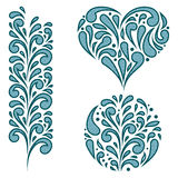 Vector set of swirling decorative elements Stock Photography
