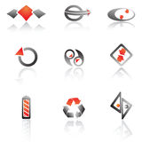 Vector set of symbols Stock Photography