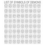Vector set with symbols of demons