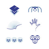 Vector set of symbols Education Royalty Free Stock Image