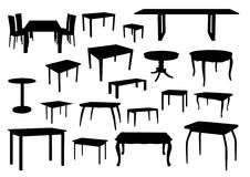 Table silhouettes Royalty Free Stock Photography