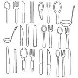 Vector set of tableware Royalty Free Stock Image