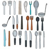 Vector set of tableware Stock Images