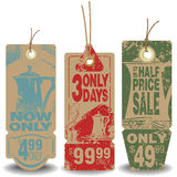 Vector set: Tag sale of beverage. Vector set: Beverage tags with a message about the sale royalty free illustration