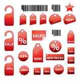 Vector set of tags Stock Images