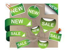 Vector set of tags Stock Image