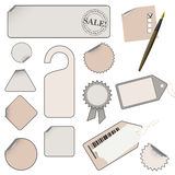 Vector set of tags, icons Stock Image