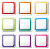 Vector set of tags Royalty Free Stock Image