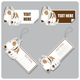 Vector set of tags and stickers with dog. Stock Photography