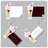 Vector set of tags and stickers. Royalty Free Stock Photos