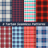 Vector set of tartan squared seamless abstract Stock Photo