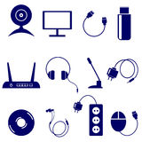 Vector set of technology icons Royalty Free Stock Image