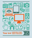 Vector set of technology icons in retro style Stock Images
