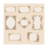 Vector set of template frames and borders Stock Photo