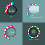 Vector set template round logo design. Royalty Free Stock Photography