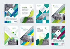 Vector set of templates booklet cover design. Vector set of templates booklet cover design, poster, magazine, brochures, flyers A4 with logo, place for photo Stock Image