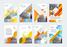 Vector set of templates booklet cover design. Vector set of templates booklet cover design, poster, magazine, brochures, flyers A4 with logo, place for photo Royalty Free Stock Photo