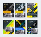 Vector set of templates booklet cover design. Vector set of templates booklet cover design, poster, magazine, brochures, flyers A4 with logo, place for photo Royalty Free Stock Photos