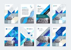 Vector set of templates booklet cover design. Vector set of templates booklet cover design, poster, magazine, brochures, flyers A4 with logo, place for photo Royalty Free Stock Photography