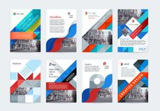 Vector set of templates booklet cover design. Vector set of templates booklet cover design, poster, magazine, brochures, flyers A4 with logo, place for photo Royalty Free Stock Images