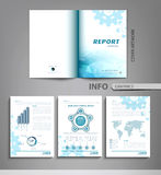 Vector set of templates for business reports, advertising. With graphs, tables and other elements Stock Images