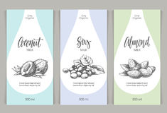 Vector set of templates packaging milk Stock Photo