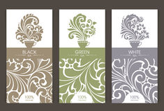 Vector set of templates packaging tea Stock Images