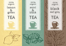Vector set of templates packaging tea Royalty Free Stock Photo