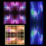Vector set of textures of luminous objects in the universe with stock illustration