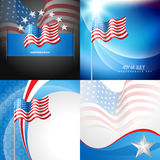 Vector set of 4th july american independence day. Background Stock Photos