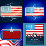 Vector set of 4th july american independence day background illu Stock Image