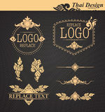 Vector set: thai art design elements Royalty Free Stock Photos