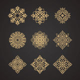 Vector set of thai art design Royalty Free Stock Images