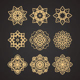 Vector set of thai art design Royalty Free Stock Photo