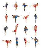 Vector set of thai boxing Royalty Free Stock Image