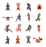 Vector set of thai boxing Stock Image
