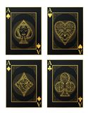 Vector set of thai tradition playing card and icon stock illustration