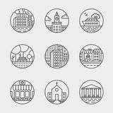 Vector set of thin icons design set. Moder simple Stock Photography